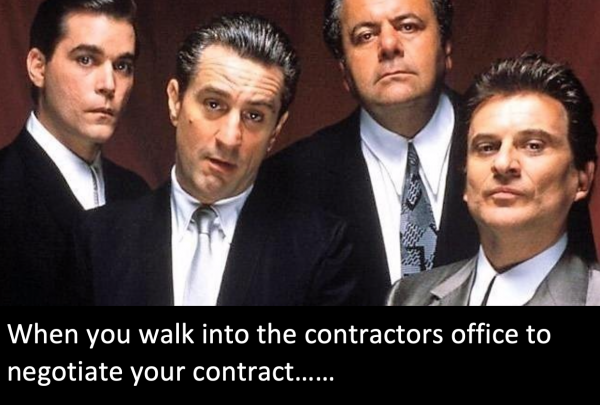 "Contract Negotiations  ""funny, Funny How?"""